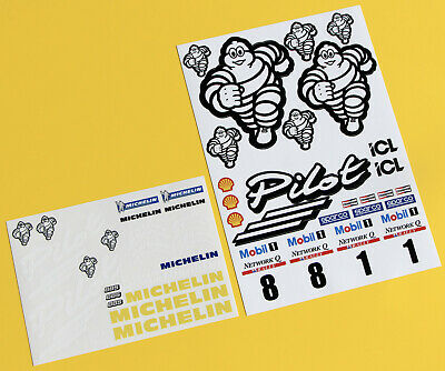 RC 10th 1:10 Scale Michelin Pilot RALLY Drift Stickers Decals Focus Escort Etc. • 11.95£