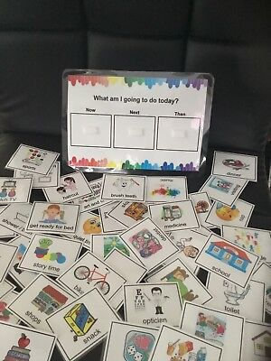 Now, Next, Then Board & Cards, Autism, Routine, Pecs • 6.99£