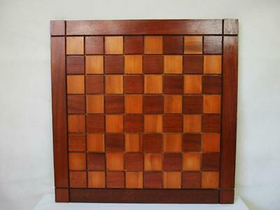 VINTAGE LARGE CHESS BOARD  52 Cm SQUARES OF 50 Mm NO PIECES • 110£