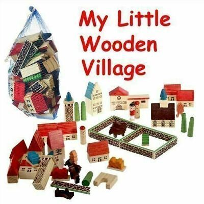 Creative Toys : Childrens Wooden Village Playset In A Bag [Toy] • 7.43£