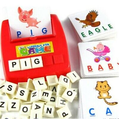 English Spelling Alphabet Letter Game Early Learning Educational Toy Kids Gifts • 6.56£
