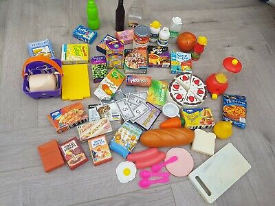 Large Bundle Role Play Toys Shop Cooking Cake Miniature Food Items • 19.99£