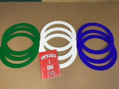 Juggling Rings Activity Pack, 9 Rings And Tutorial Booklet. • 7.50£