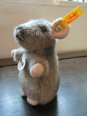 Steiff Piff Maus Grey & Beige Mouse Tagged New • 25£