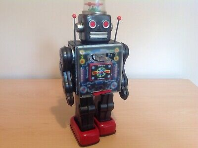 Horikawa Japan Space Fighting Geared Robot 1960's Lovely Condition Working Nice, • 195£