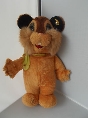 Vintage RARE STEIFF Cute Standing CHIPMUNK With Button & Label Plush Soft Toy • 45£