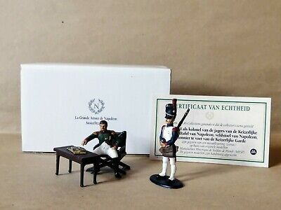 1/32 Napoleonic Wars Metal Napoleon & Artilleryman Professionally Painted Boxed • 45£