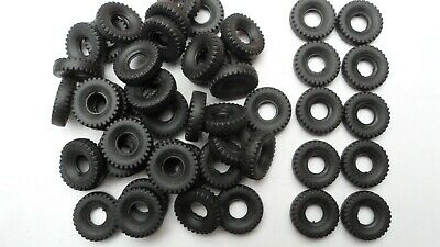 50 X Dinky Supertoy Reproduction Black Tyres, Block Tread, 20mm Diameter.  • 12.50£