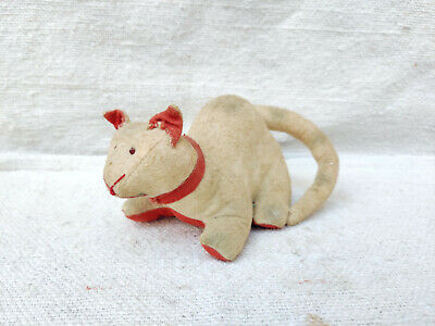 1930s Vintage Rare Red & White Cat Plush Toy Stuffed Animal Soft Toy Cuddly Toy • 250£