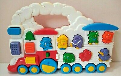 Vintage 1994 TRAIN Chicco Animal Electronic Sounds Toy Push Along Educational • 14.99£