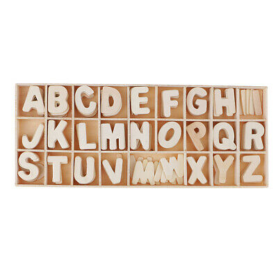 156pcs Wood Embellishments Wooden Letters Alphabet Scrapbook Craft Kids Toys • 3.97£