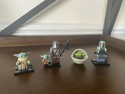Star Wars Baby Yoda & Mandalorian Custom MiniFigure Uk Seller - Collection. • 9.95£