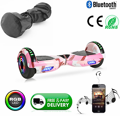 """6.5"""" Self Balancing Electric Scooter +LED Flash Wheels Bluetooth Hover Board Bag • 129.95£"""