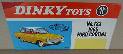 Dinky Toys ORIGINAL Shop Display Poster Sign Window Streamer - 133 Ford Cortina • 19.99£