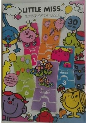 Little Miss Number Match Puzzle Card - Jigsaw Children Educational • 1£
