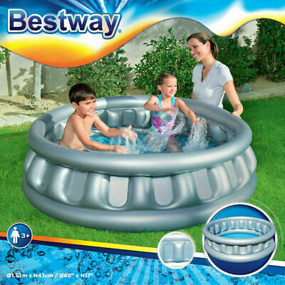 Swimming Paddling Splash Pool Inflatable Spaceship Children Kids Outdoor Garden • 19.99£