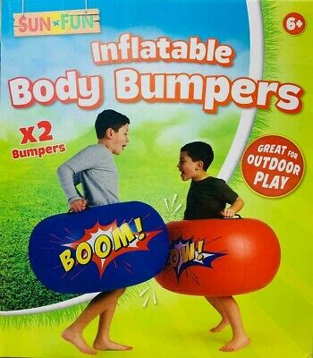 2x Large Outdoor Inflatable Body Bumpers Children Kids Game - Set Of 2 Boppers • 17.99£