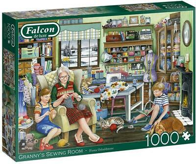 Jumbo 11273 Falcon De Luxe - Granny's Sewing Room 1000 Piece Jigsaw Puzzle • 13.84£