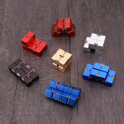 Metal Infinity Magic Cube Blocks For Stress Relief Fidget Anti Anxiety Aluminum • 14.88£
