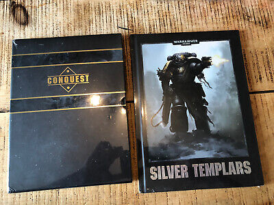 Silver Templars Games Workshop Warhammer 40k Conquest Mag Hardback Books Sealed • 12.50£