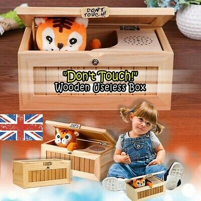 Toy Wooden Leave Me Alone Box Useless Machine Useless Box Don't Touch Tiger Gift • 23.12£