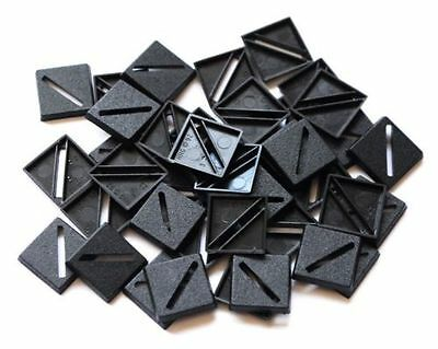 100 (One Hundred) 20mm Square Slotta Bases Wargaming Roleplaying Black Plastic  • 3.48£