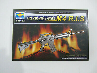 Trumpeter 1/3 Scale AR15/M16/M4 FAMILY M4 R.I.S 1:3 Model Kit NEW • 22.99£
