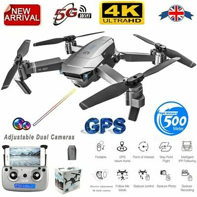 SG907 GPS Drone With 4K HD Dual Camera WIFI FPV RC Quadcopter Foldable Drone UK • 85.12£