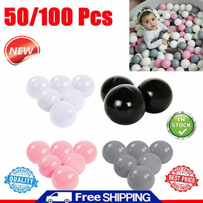 100pcs Colorful Plastic Ball Pit Balls Crush Proof Ocean Ball Toy Games For Kids • 7.39£
