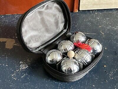 Pocket Sized Travel 6 Ball Boules Set New And Unused • 11£