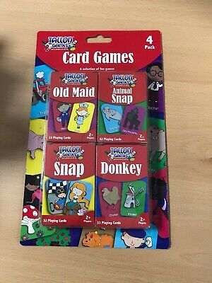Tallon Children's Playing Cards - Kids Games Playing Snap Donkey Family Fun • 1.95£