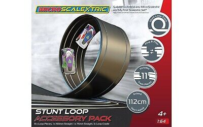 G8046 Micro 1:64 Scale Scalextric Track Stunt Extension Pack - Stunt Loop Boxed • 12.99£