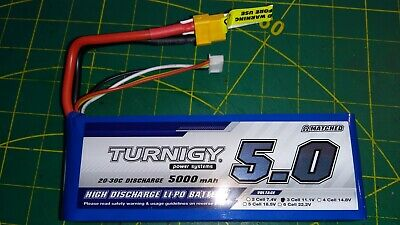Turnigy 5000mAh 11.1V 3S 25-30C Lipo Battery XT60 • 44£