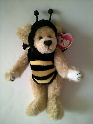 Ty Attic Treasures Collection 1993 Beezee Rare Tag Error Gasport Bumble Bee • 20£