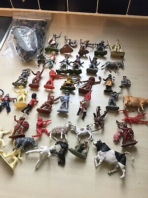 Small Job Lot Of Various  Makes  Of Plastic Soldiers Goid Condition • 22£
