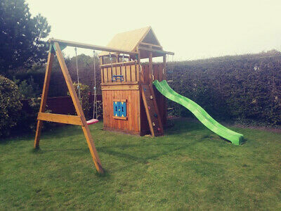 Jungle Gym With Tower, Den, Slide, Swings Etc • 50£