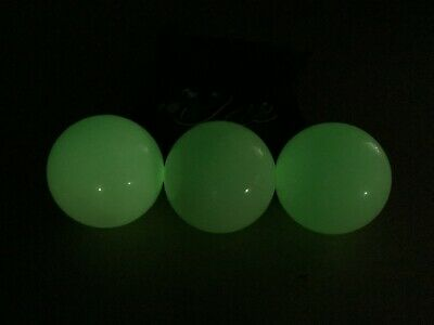 Stage Balls, Juggling, Fun,Circus, Playtime, Set Of 3 Glow In The Dark 75mm • 12£