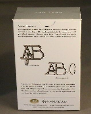 ABC Difficulty Level 1 HANAYAMA Brain Teasers Puzzle Huzzle Cast  • 8.50£