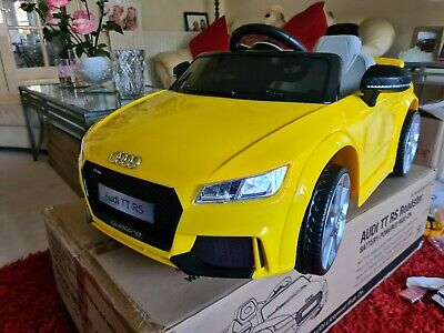 Audi Ttrs Ride On Roadster Toy Car 6v New Charger Yellow Rechargeable Official • 51£
