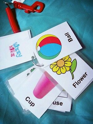 Children's First Word Flash Cards Learning Baby Toddler Pre-school Pictures • 5£