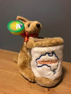 New Aussie Friends Kangaroo Boomer Pen Holder Australia Souvenir Plush Soft 6  • 14.95£