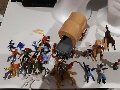 Vintage 1970s Timpo / Swoppet Soldiers / Cowboys And Indians .Mixed Lot  • 31£