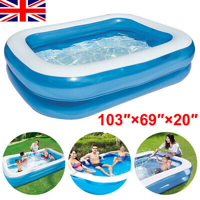 Large Swimming Pool Family Garden Outdoor Summer Inflatable Kids Paddling Pools • 26.99£