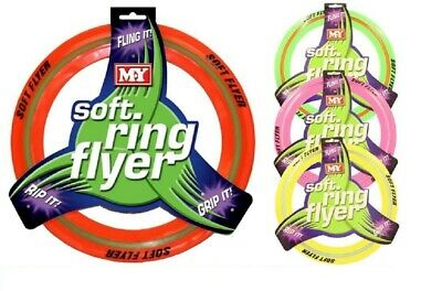 Coloured Flying Frisbee Soft Ring Flyer Dog Puppy Play New Pet Outdoor Disc Toys • 5.45£