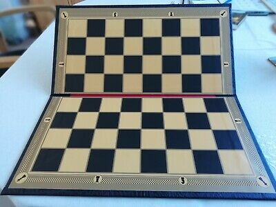 Large Leather Folding Chess Board 2 Squares (Minor Imperfection See Description) • 14.99£