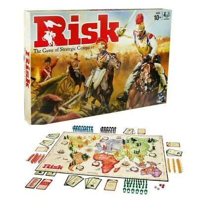 UK New Risk Board Game Hasbro Strategic Fun Family Party Adult Game Cards & Gift • 22.95£