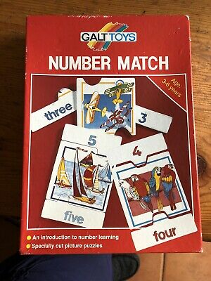 Number Match Puzzle, Galt Toys, Age 3 -6, Number Learning • 3.50£