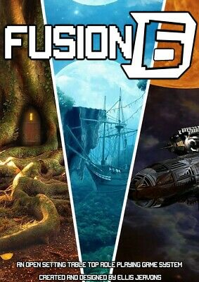 Fusion D6 TableTop RPG  -  Roleplaying Game Core Rulebook  (PDF Format) • 3.99£