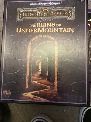 AD&D 2nd Edition Forgotten Realms The Ruins Of Undermountain TSR1060 Box Set • 40£