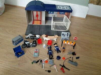Playmobil 5299 Police Station Carry Case Take Along City Life Action Accessories • 19.99£